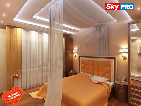 Дизайн освещения в спальной комнате
