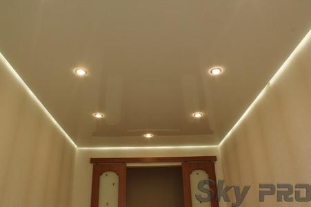 Светодиодная подсветка потолка фото